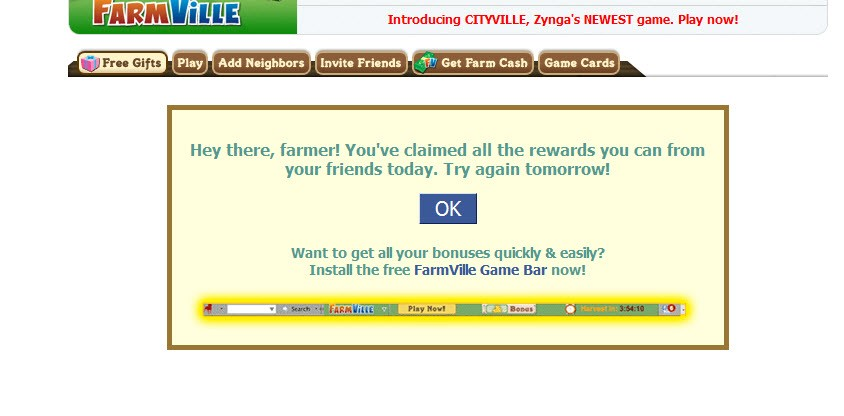 FarmVille Item Collection Limit