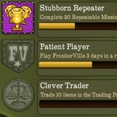 New FrontierVille Badges: Repeater, Player, and Trader