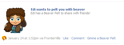 FrontierVille pelt you with beaver