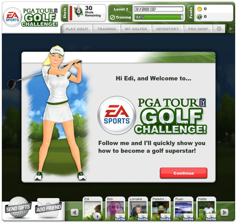 pga tour golf c hallenge on facebook