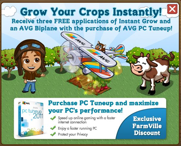 FarmVille AVG Biplane
