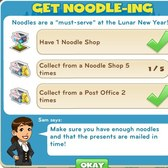 CityVille Get Noodle-ing & Time to Go Lunar Goals: Everything you need to know