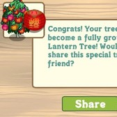 FarmVille: Chinese Lantern Trees growing from