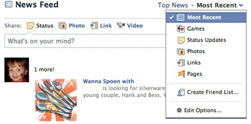 Facebook News Feed tweak
