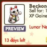 FarmVille Lunar New Year Decorations: Magpie, Red Lantern, Beckoning Cat and more