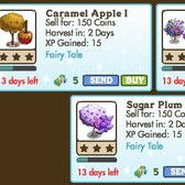 FarmVille Fairy Tale Trees: Caramel Apple I, Confetti Tree, & Sugar Plum Tree re-released