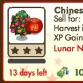 FarmVille Lunar New Year Trees: Chinese Lantern & Money Tree