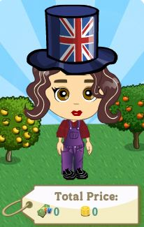 farmville england flag hat on farmer
