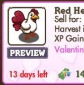 FarmVille Valentine Animals: Red Heart Chicken, Pink Gypsy Horse and Foal