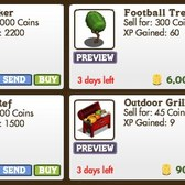 FarmVille Super Bowl Decorations: Outdoor Grill, Football Tree, Cow Kicker, & Gnome Ref