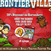 FrontierVille: Horseshoes 20% off this weekend only