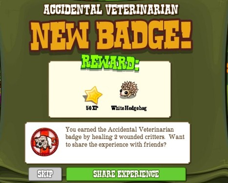Accidental Veternarian Badge