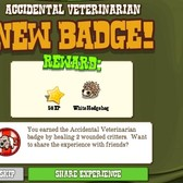 FrontierVille Accidental Veterinarian Badge: Better get to nursin'