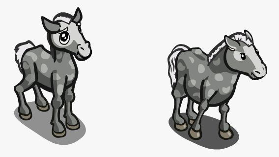 Farmville Sneak Peek Unreleased Grey Prz Horse And Foal