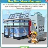 CityVille City Works Community Building: Everything you