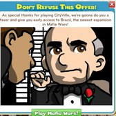 Play CityVille for instant access to Mafia Wars Br