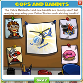 CityVille: Police Helicopter, new Bandits to lock up coming soon