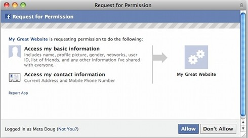 New Permissions window