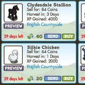 FarmVille LE English Countryside Animals: Clydesdale Stallion, Morgan Horse