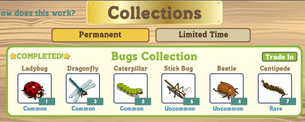 farmville collections trade in to level up fast