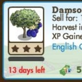FarmVille LE English Countryside Trees: Crab Apple Tree & Damson Tree
