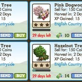 FarmVille LE English Countryside Trees: Dogwood, Hazelnut, Chestnut & More