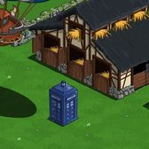Mysterious blue police box appears in FarmVille's English Countryside