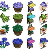 FarmVille English Countryside Sneak Peek: Spring Squill, Field Beans, Corn Flower crops & m