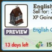 FarmVille LE English Countryside Decorations: Tea Shop, Garden Bench, Tea Cup Ride & More