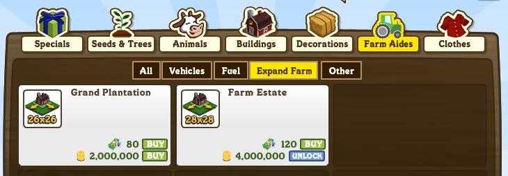farmville expansions- level up fast guide