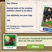 FarmVille English Countryside: Make Cheese in the Dairy with Lily