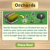 FarmVille: Free Orchard, five new trees available as free gifts