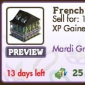 FarmVille Mardi Gras Decorations: French Quarter, Carnival Float, Mask Fountain & More