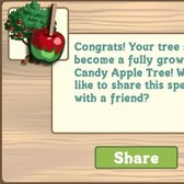 FarmVille: Giant Candy Apple Tree found from Mystery Seedlings
