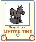 Farmville Gray Horse Available As Free Gift For A Limited