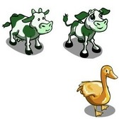 FarmVille Animal Sneak Peek: Green Patch Cow, Green Patch Calf, Fawn, & More