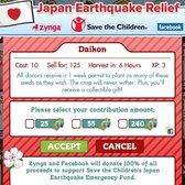 FarmVille: Unlock Daikons in Japan Earthquake Relief Effort