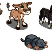 FarmVille Sneak Peek: Jersey Cow, Thoroughbred Horse, & Mole