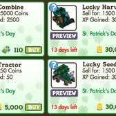 FarmVille: Lucky vehicles return for St. Patrick's Day