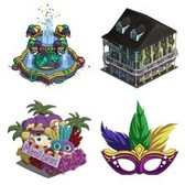 FarmVille Mardi Gras Sneak Peek: Mask Fountain, Avatar Mask, French Hotel, &amp; More
