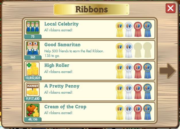 farmville ribbons level up fast