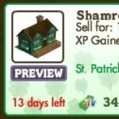 FarmVille St. Patrick's Day Decorations: Shamrock Cottage, Shamrock Pond, Stone Wall &amp; More