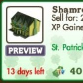 FarmVille St. Patrick's Day Decorations: Shamrock Manor, Clover Flower Bed, Mossy Stone & More