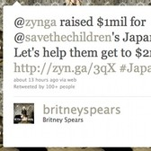 Zynga, Britney Spears tweet for Japan relief with more celebrities