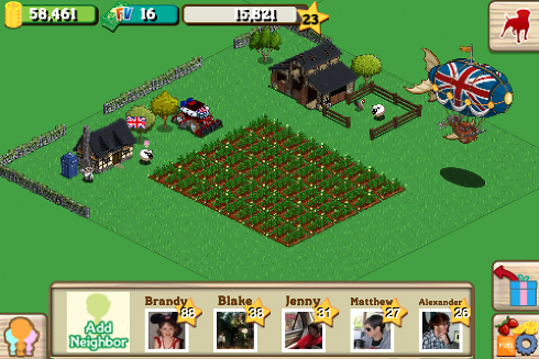 FarmVille English Countryside on iPhone