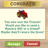 FarmVille English Countryside Mystery Gift prizes include vehicles