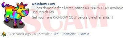 Rainbow Cow Scam