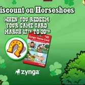 FrontierVille: Redeem Game Card, receive 20% extra Horseshoes