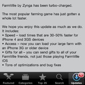 FarmVille iOS update brings quicker load times, bug fixes, and access for 3G players