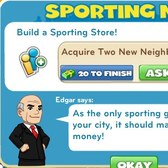 CityVille: Unlock the Sports Store through a new quest